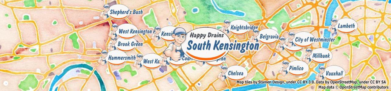 South Kensington SW7 blocked drain repair clearance cleaning