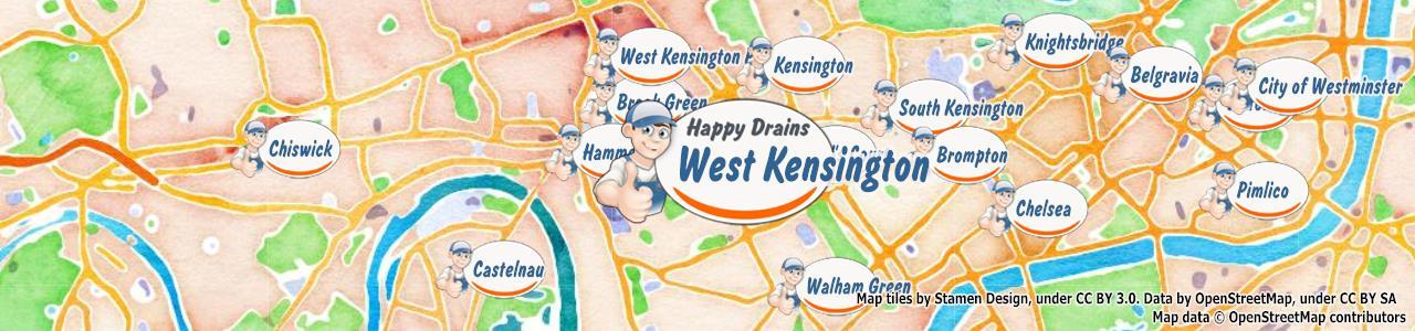 Blocked drain West Kensington W14